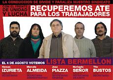 ELECCIONES EN ATE: EL 4 DE AGOSTO VOTA LA BERMELLON