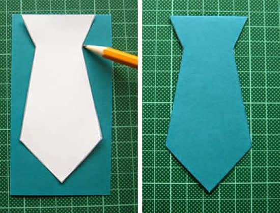 Как из бумаги сделать галстук Мастерклашка 86