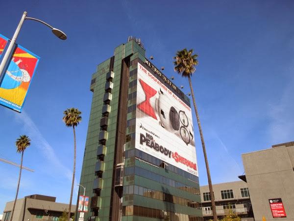 Giant Mr Peabody Sherman movie billboard