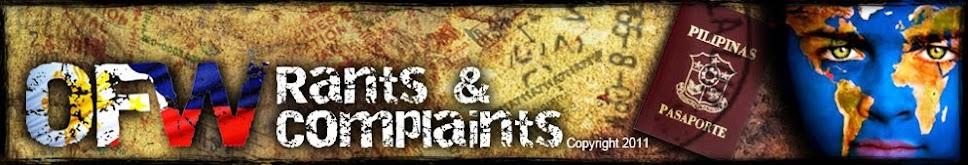 O.F.W. Rants & Complaints