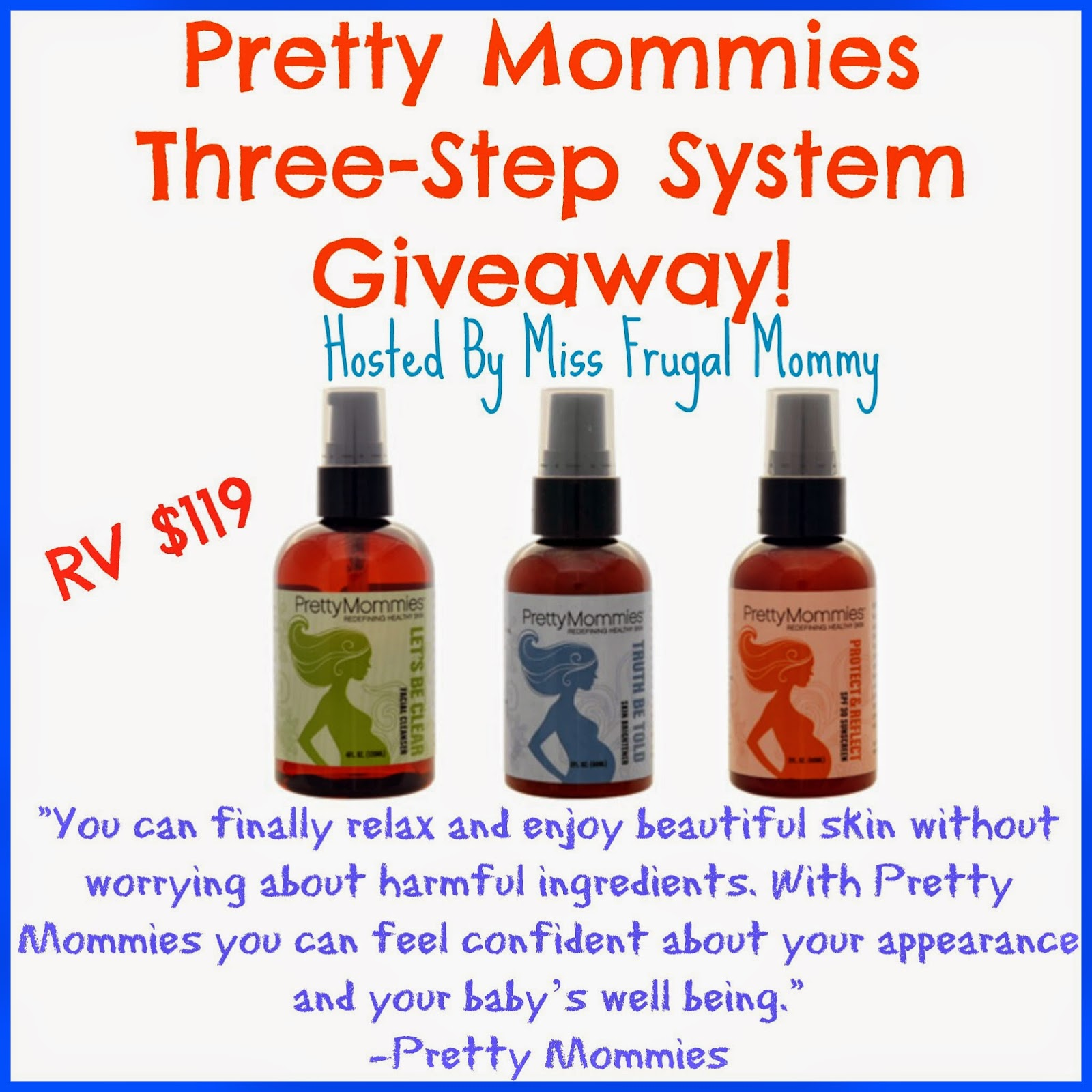 Pretty Mommies Skincare Three-Step System Giveaway