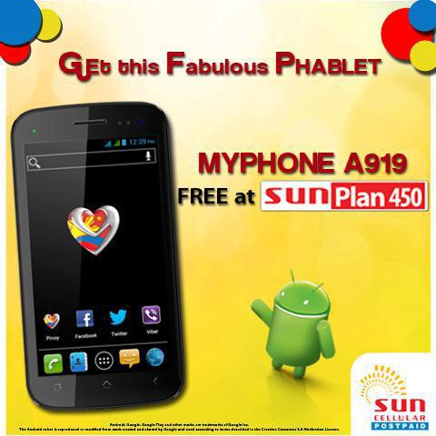 Sun plan 450 with free myphone a919 gadget manila for Sun mobile plan