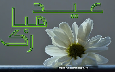 Eid Ul Adha Zuha Mubarak Flowers Wallpapers Greeting Cards 2012 in Urdu 022