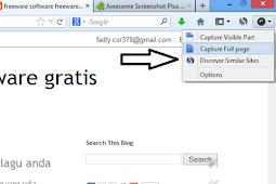 Cara mengambil screenshot halaman web secara penuh