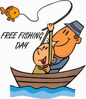 Phoenix mommy national free fishing day 2014 for Fishing without a license california