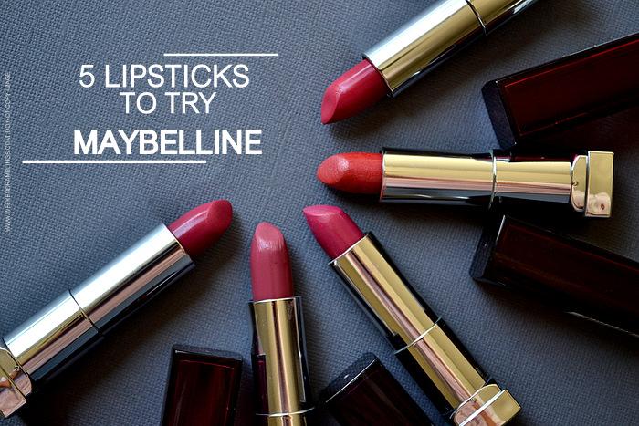 Maybelline Color Sensational Lipsticks - Photos Swatches
