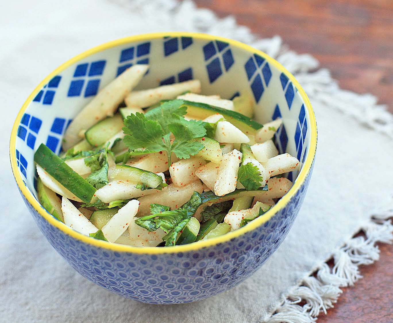 how to prepare jicama for salad