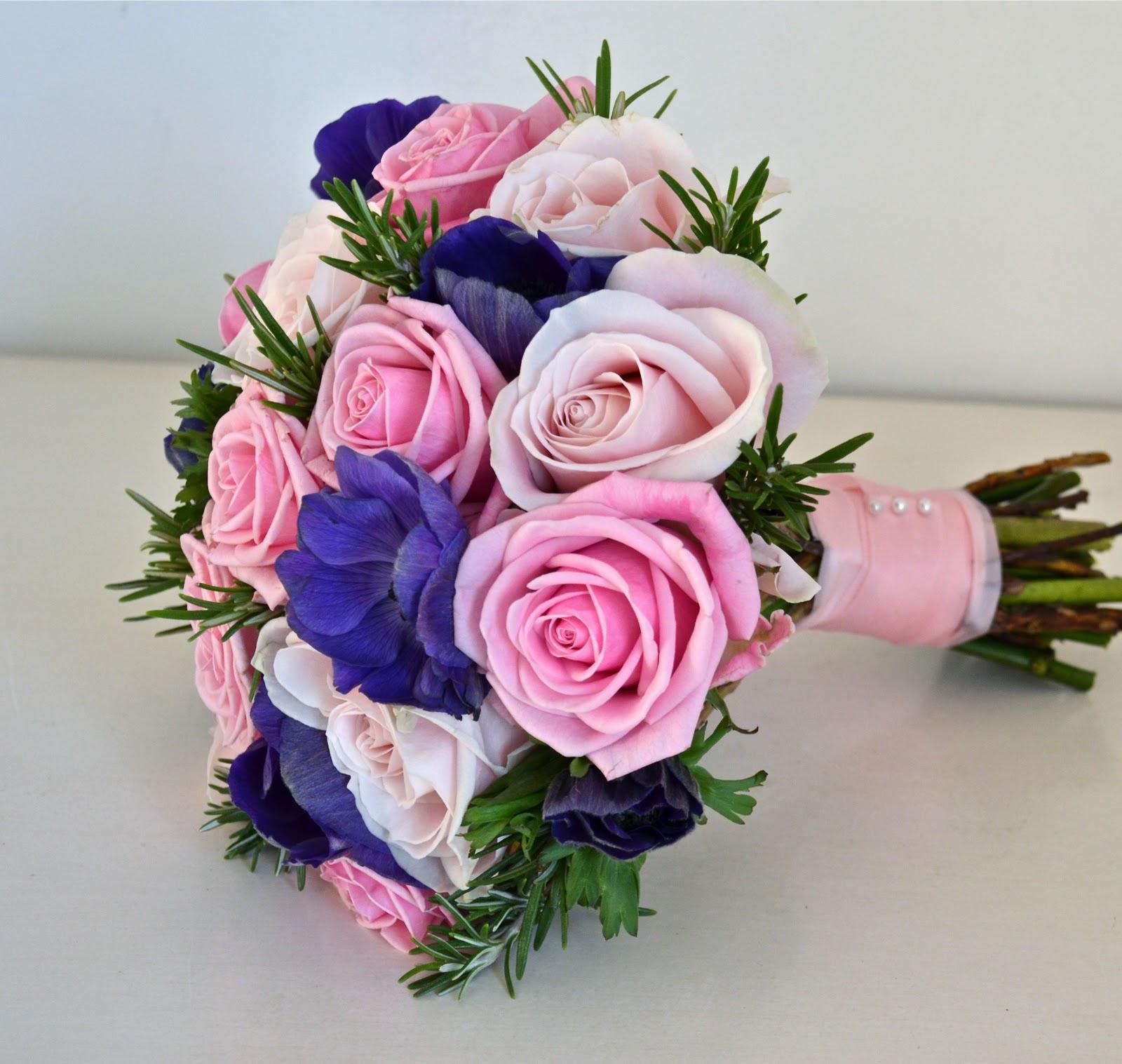 Wedding Flowers Blog: Jonquil\'s Pink and Purple Wedding Flowers