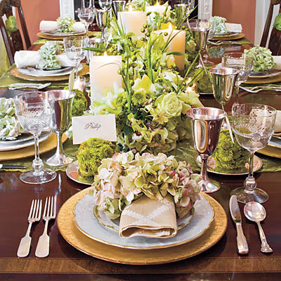fashion house christmas dinning table decoration ideas