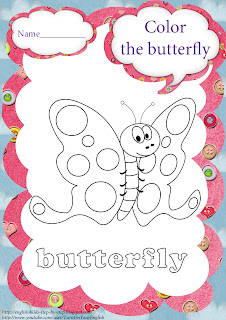 butterfly coloring for kindergarten