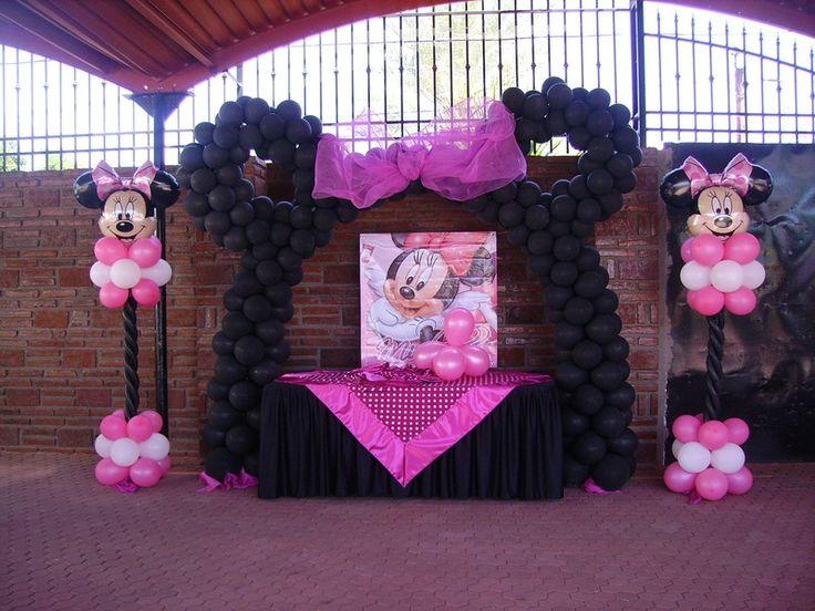 Decoracion de globos de mimi imagui for Decoracion de minnie mouse