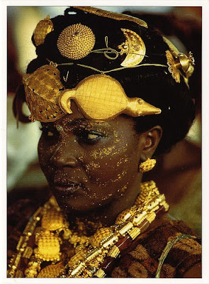 ASHANTE FESTIVAL GHANA GOLD BLACK BEAUTIFUL WOMAN