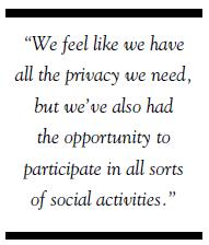 Athertyn at Haverford Reserve we feel like we have all the privacy we need social activities