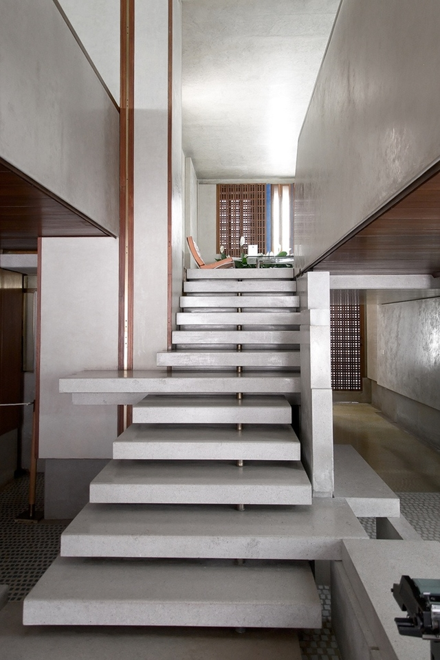 Low concrete stairs
