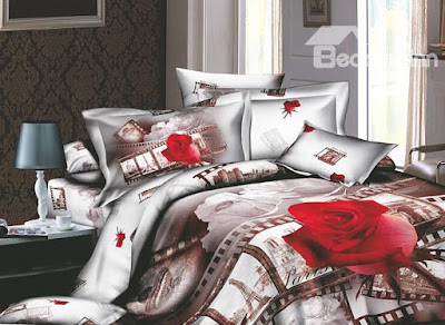 Wonderful European Flavour 4 Piece Active Print Bedding Sets with Cotton