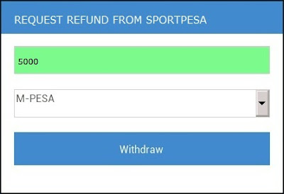 HOW TO REQUEST REFUND FROM SPORTPESA