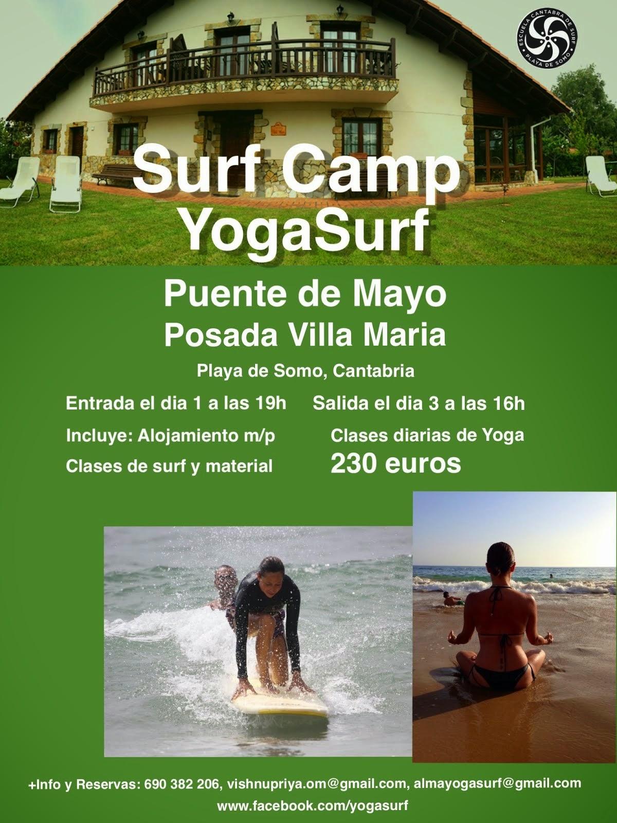 Yoga y surf en Cantabria