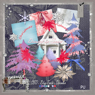 "Scrapbook freebie ""Dressed in snow"" by muriellescrapdigital"
