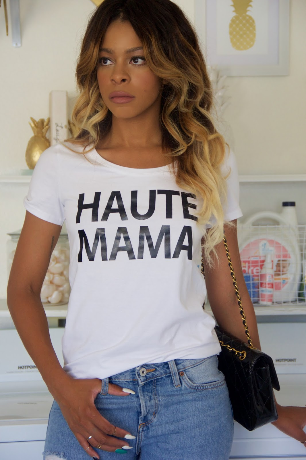 shop bottle blonde, haute mama t shirt, allthingsslim, all things slim, mommy t shirts, maternity t shirts