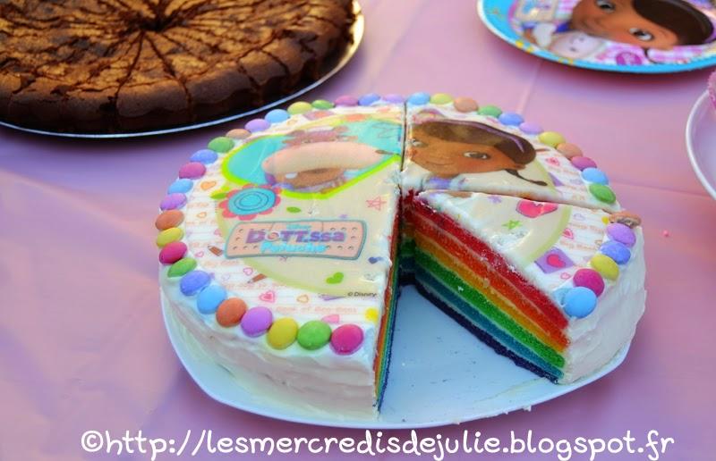 Rainbow Cake Docteur La Peluche