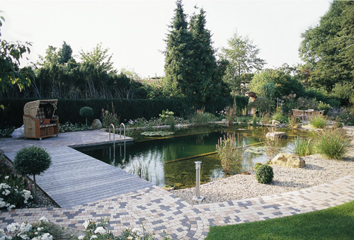 The letter k natural swimming pools for Natural pool design