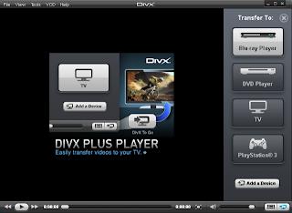 DivX Player film Playing screen shot