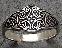 Sterling Silver Cross of the Goddess Dana Ring