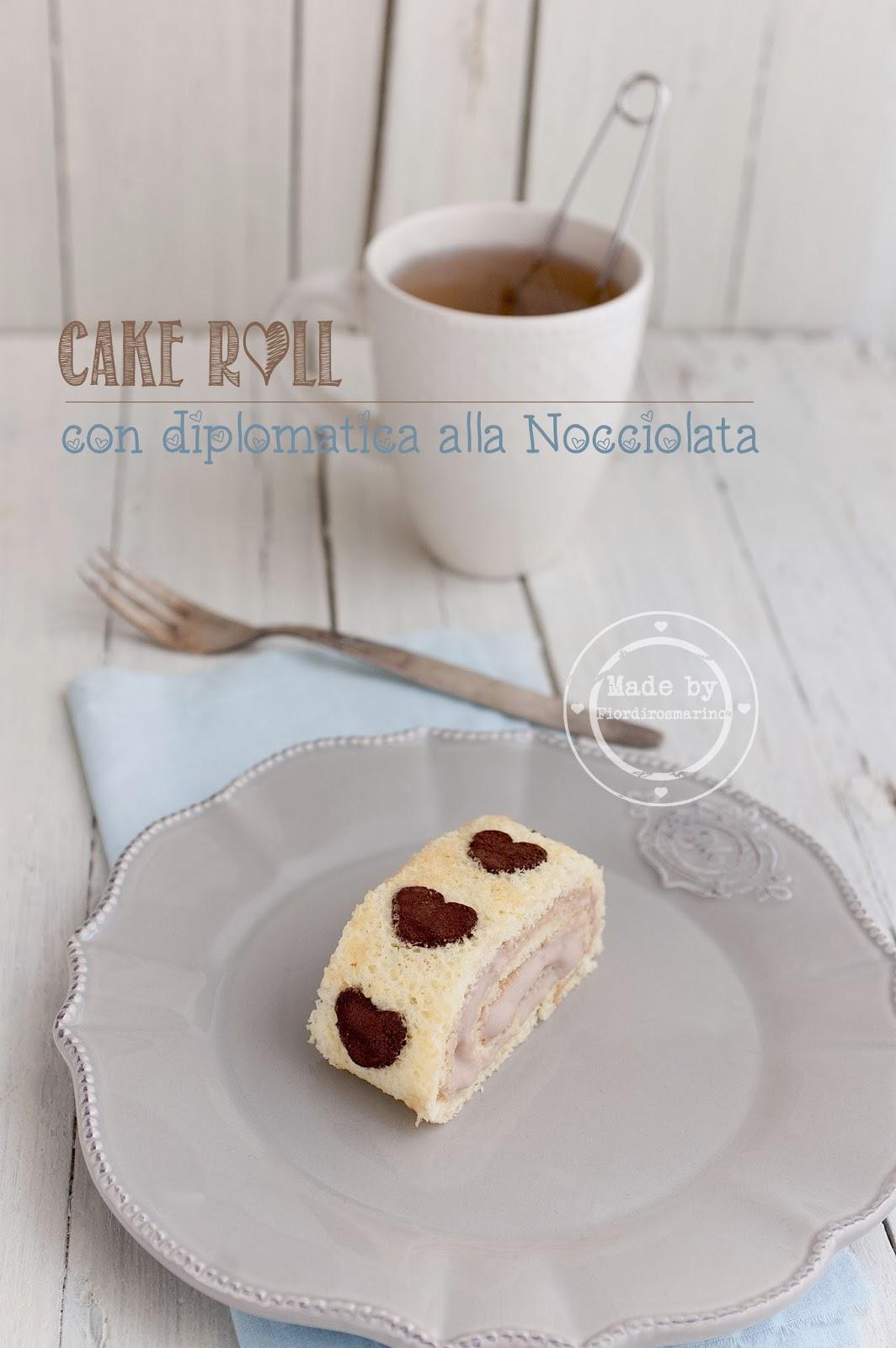 cake roll con diplomatica alla nocciolata per festeggiare tre anni di blog ♥