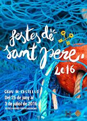 Cartel de fiestas de Sant Pere 2016
