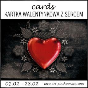 W Y Z W A N I E - kartka walentynkowa z sercem