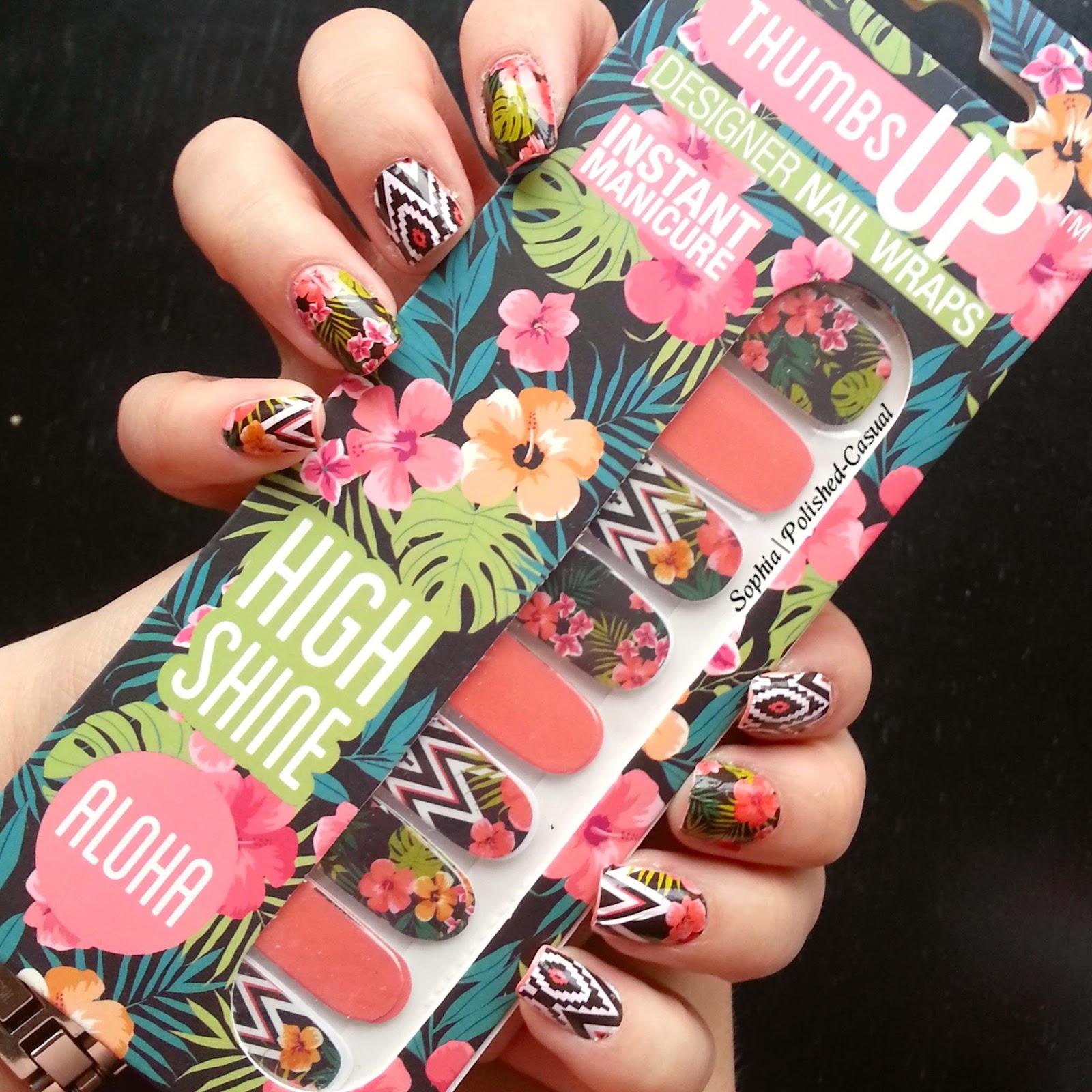 Urlaub mit den ThumbsUp NailWraps Aloha | Polished Casual