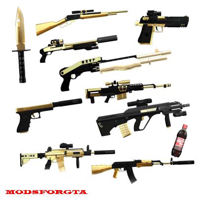 Pack de Armas OURO 2
