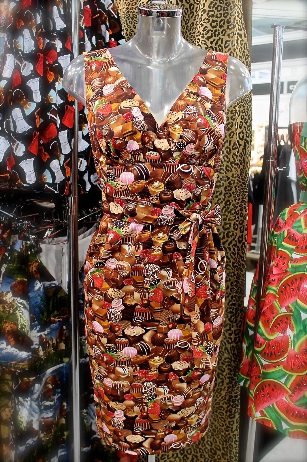 Victory Parade chocolate print dress