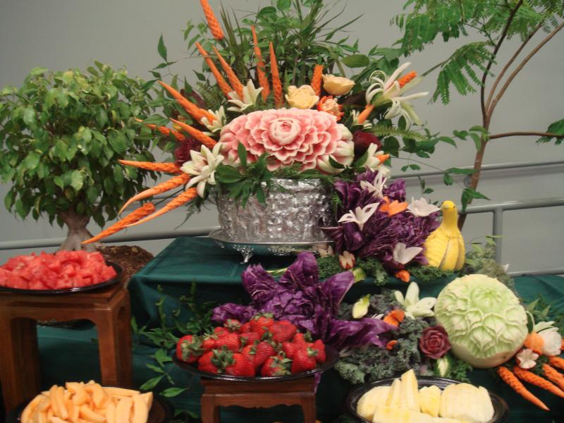 Thai fruit carving lessons history vegetable fruits