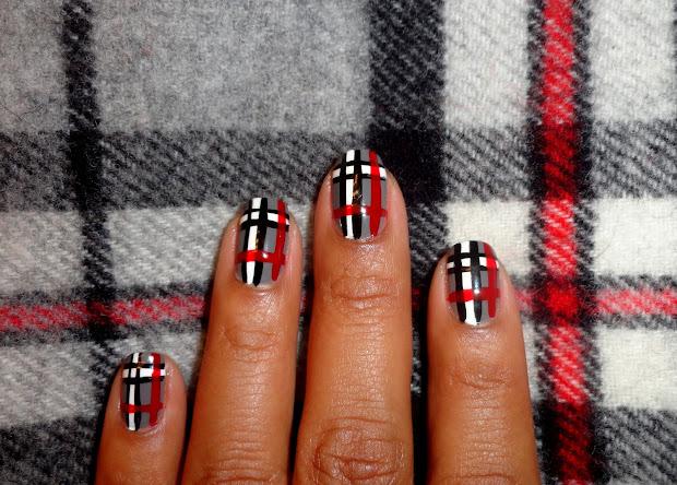 fancy schmancy nails plaid