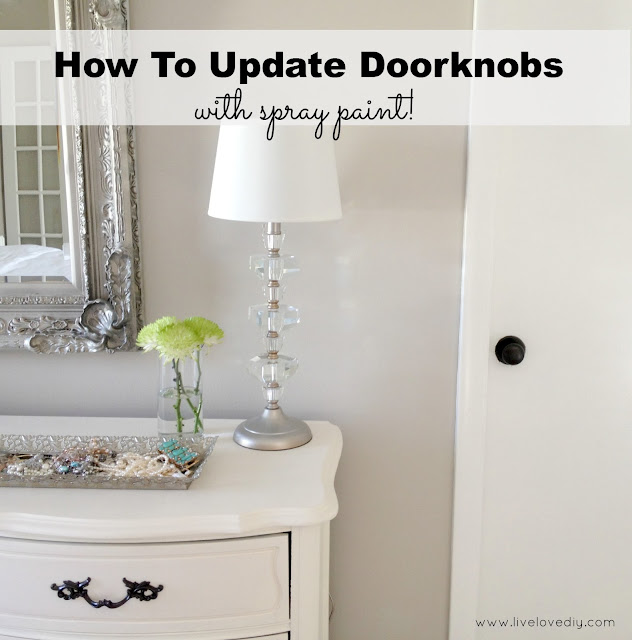The secret to updating old brass doorknobs! This is SO great!