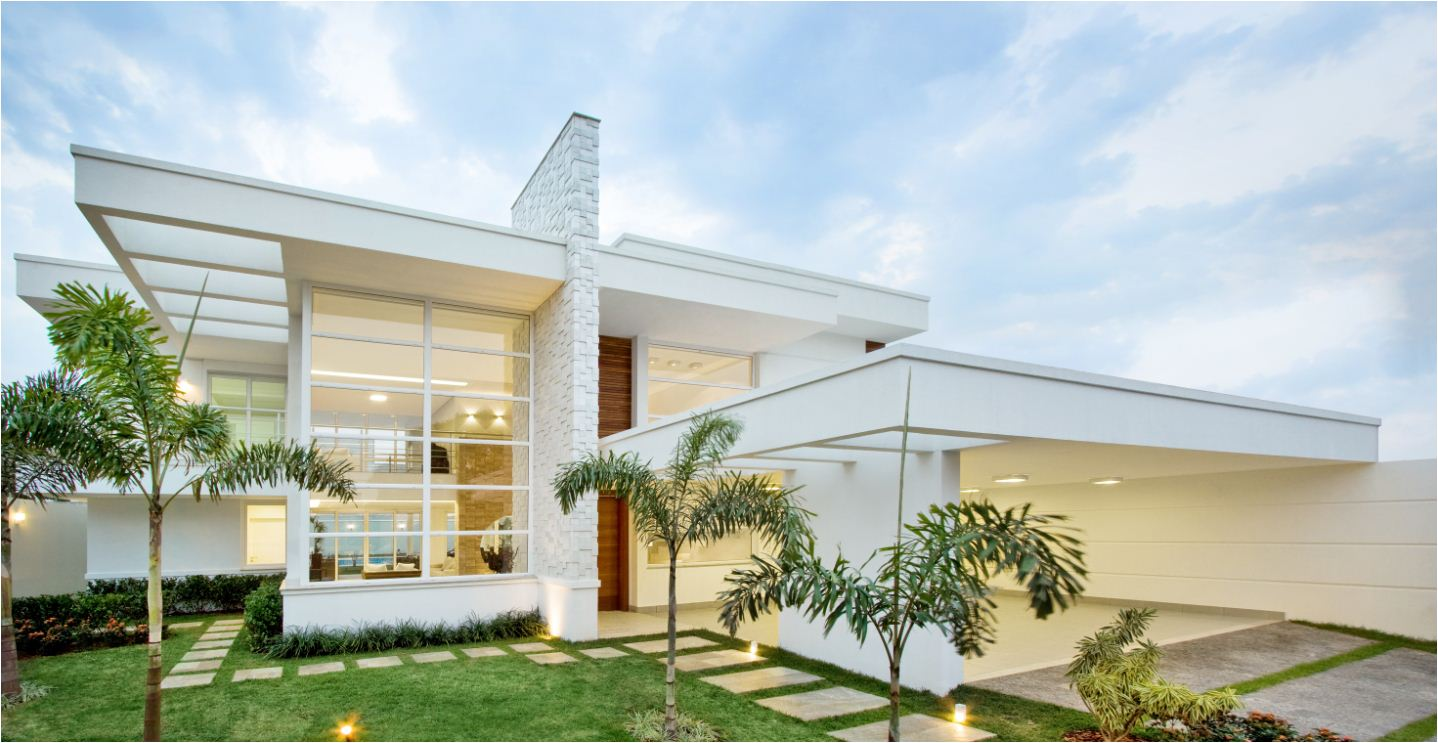 Fachadas de casas e muros veja modelos e dicas for Modelos de residencias modernas