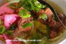 resep praktis dan mudah membuat (memasak) masakan khas purwokerto soto sokaraja banyumas spesial enak, gurih, lezat