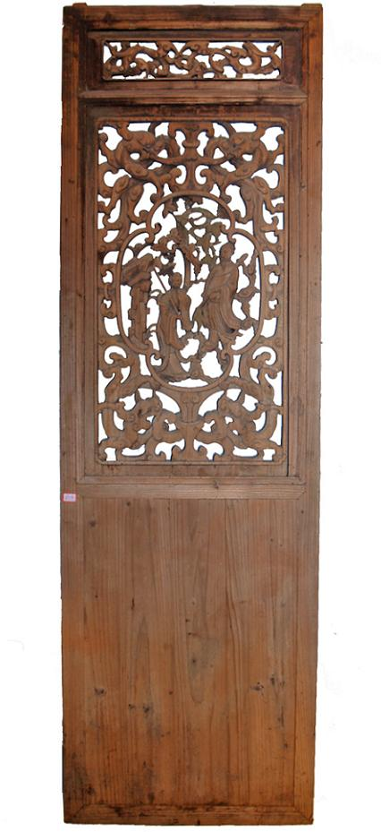 Chinese old door art-chinese carved wood door- qing dynasty door art