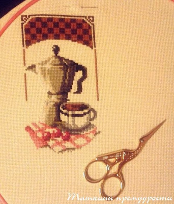 Первый отчет по кофейной вышивке