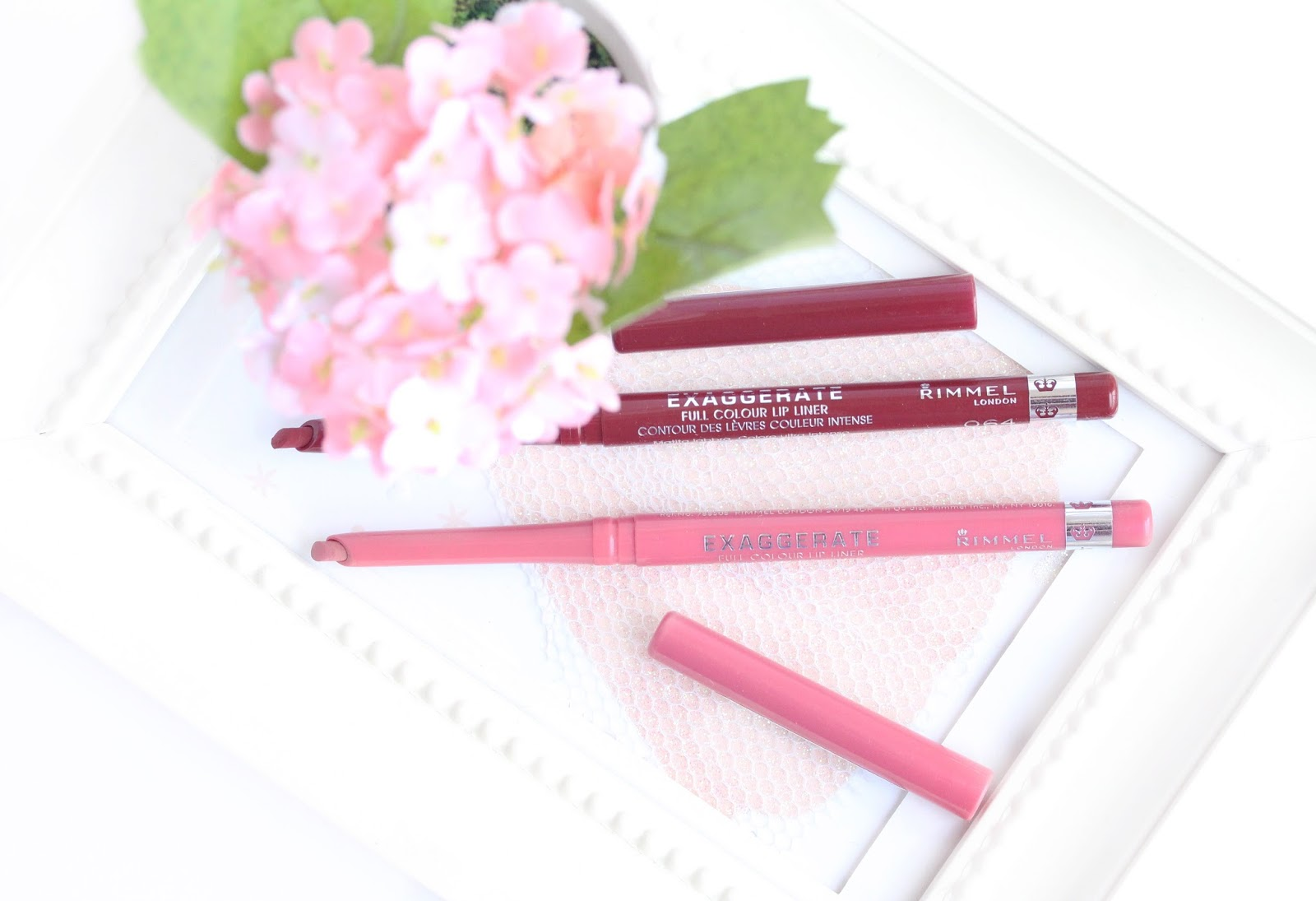 Rimmel Exaggerate Lip Liner in Eastend Snob and Obsession