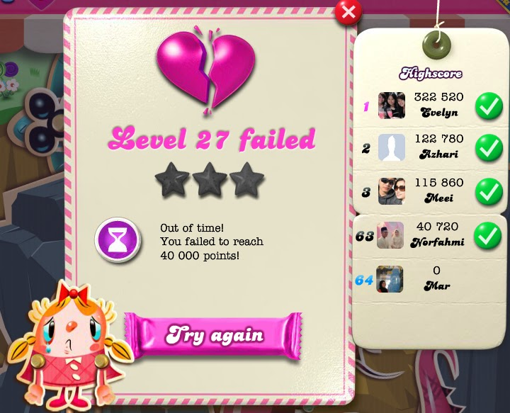 Level 27 failed more than 15 times!! I give up!!
