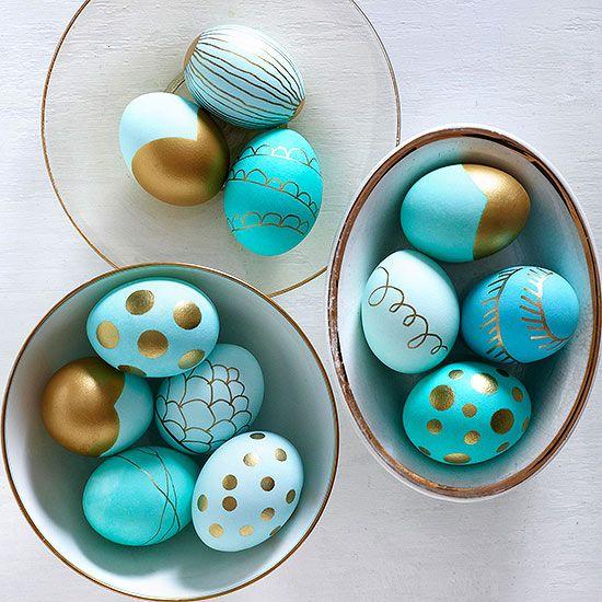 Пасхальные яйца покраска своими руками 23