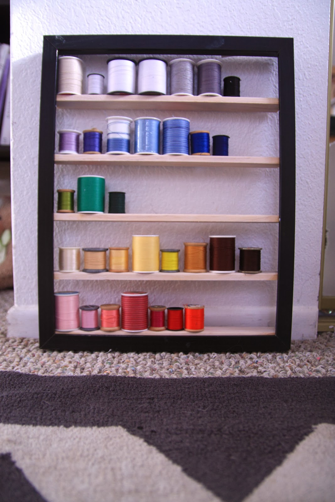 DIY thread storage