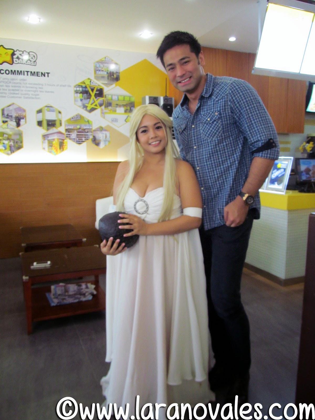 Lara Novales with Hayden Kho