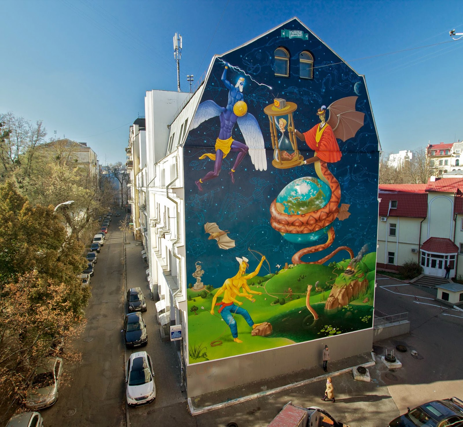 Waone from Interesni Kazki is back in his hometown of Kiev in Ukraine where he spent about a month working on this new piece.