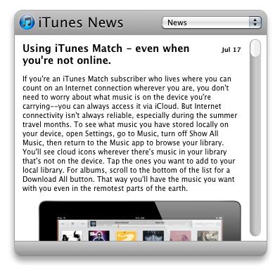 iTunes News