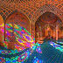 Indahnya Kemilau Warna Cahaya di Masjid Pink Iran