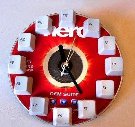 Haz un reloj reciclando componentes inform ticos - Hacer reloj de pared con fotos ...