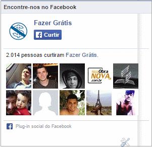 Caixa curtir Facebook do blog Fazer Grátis